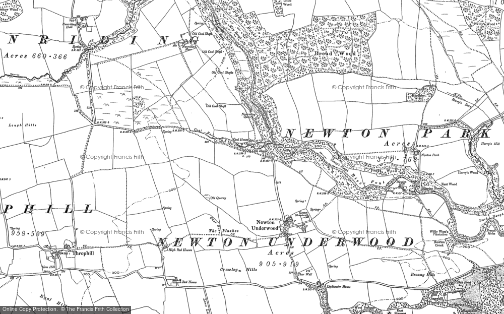 Old Map of Historic Map covering Lightwater Ho in 1896