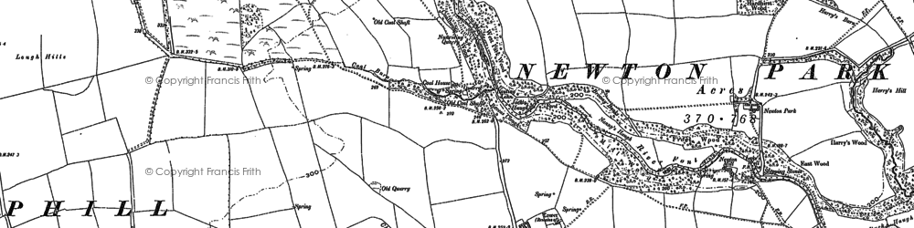 Old map of Lightwater Ho in 1896