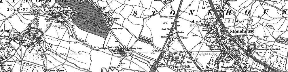 Old map of Churchend in 1881