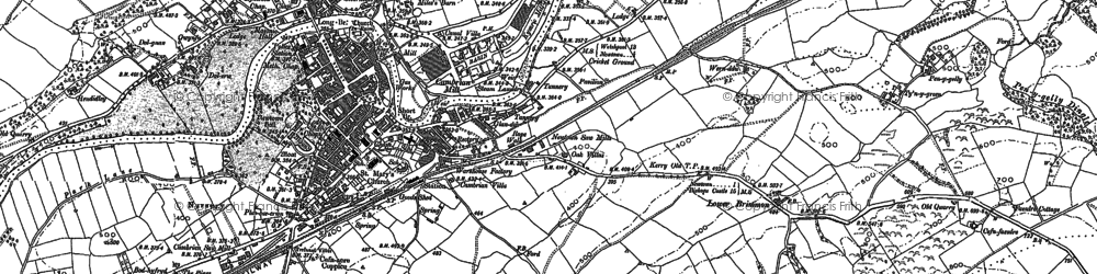 Old map of Newtown in 1884