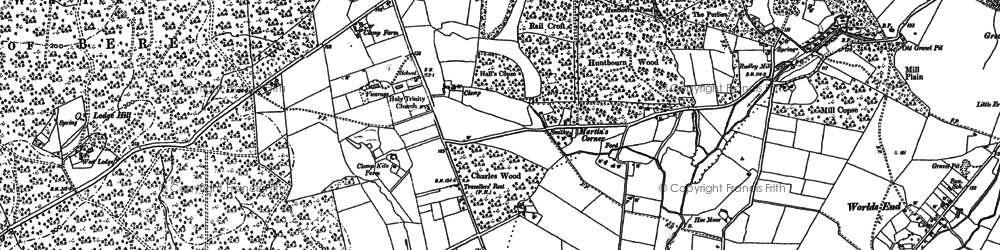 Old map of West Walk in 1895