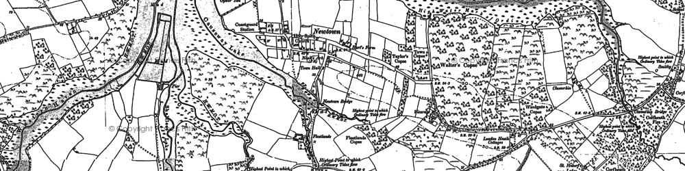 Old map of Newtown in 1896