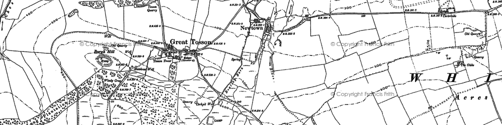 Old map of Wreighburn Ho in 1896
