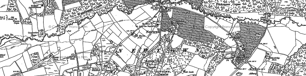 Old map of Newtown in 1909