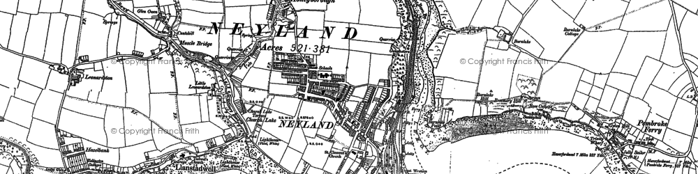 Old map of Neyland in 1906