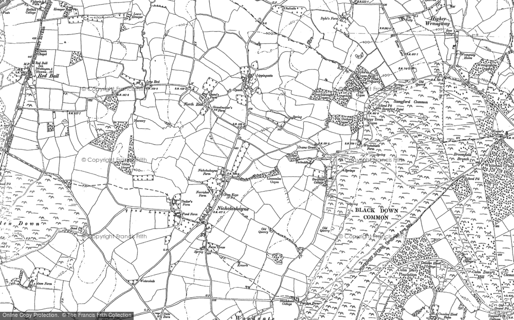 Old Map of Historic Map covering Woodgate in 1903