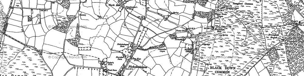 Old map of Woodgate in 1903