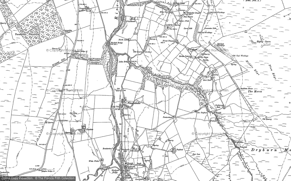 Old Map of Historic Map covering Allen Dale in 1895