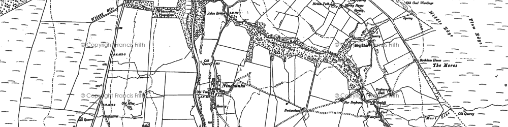 Old map of Acton Moor in 1895