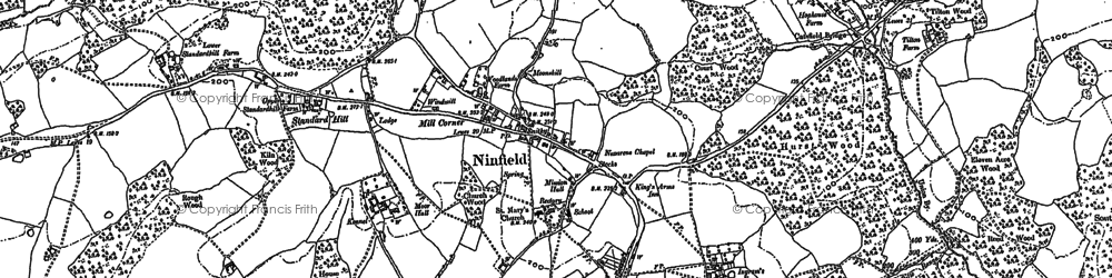 Old map of Tilton in 1897