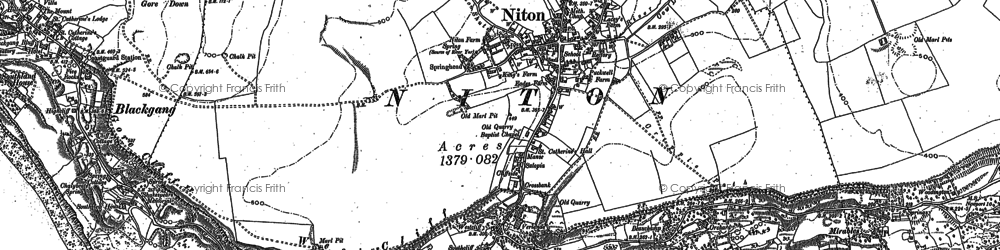Old map of Niton in 1906