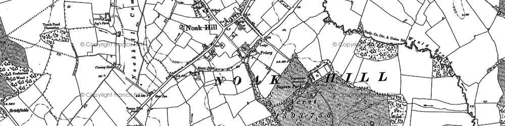 Old map of Noak Hill in 1895