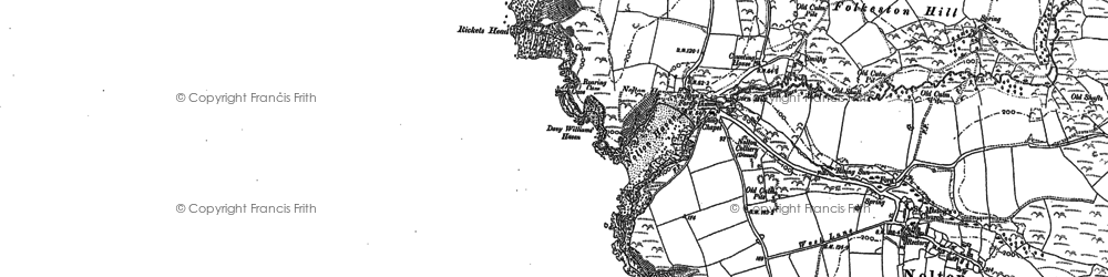 Old map of Nolton Haven in 1887