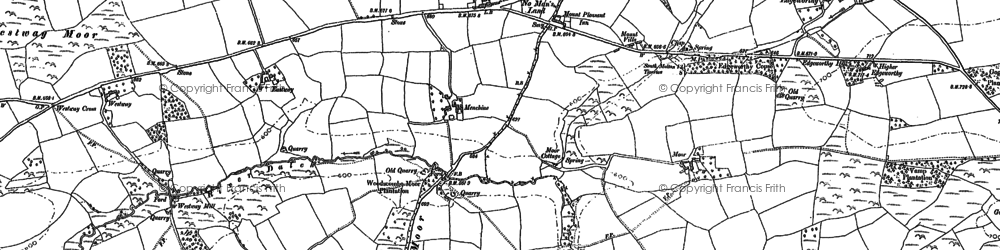 Old map of Woodscombe in 1887