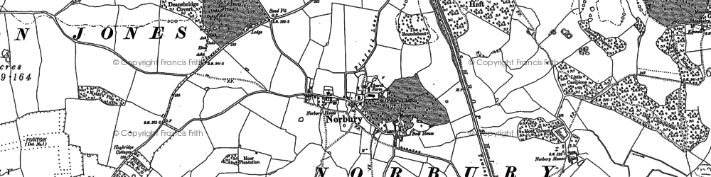 Old map of Norbury in 1880