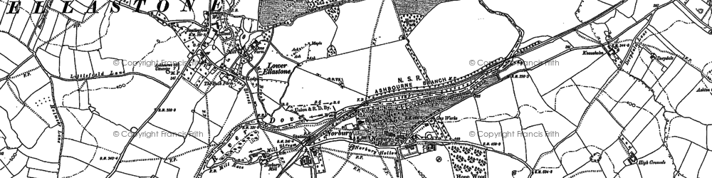 Old map of Norbury in 1898