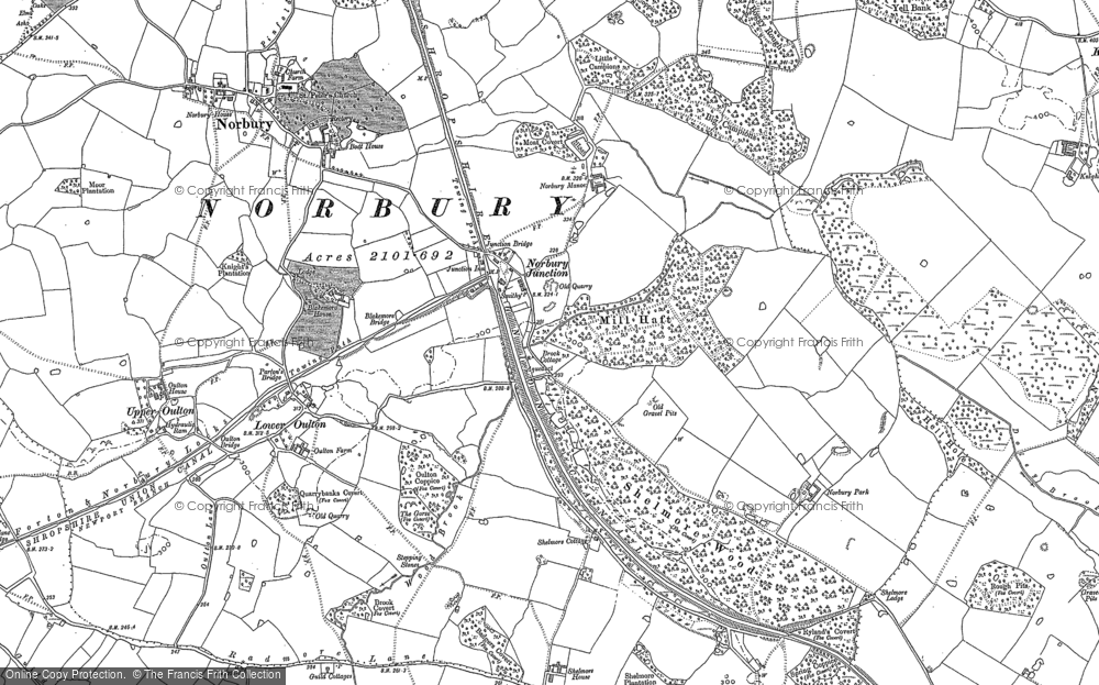 Old Map of Norbury Junction, 1880 in 1880