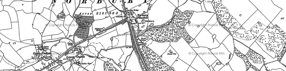 Old map of Norbury Junction in 1880