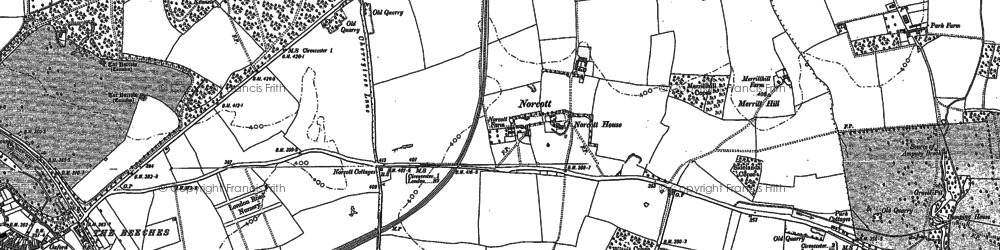 Old map of Yellow School Copse in 1875