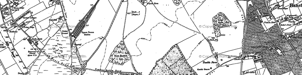 Old map of Nork in 1894