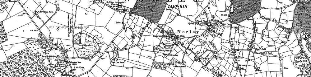 Old map of Norley in 1897