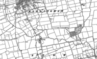 Old Map of Normanby by Stow, 1885