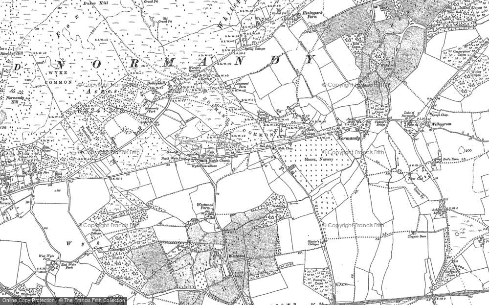 Old Map of Historic Map covering Wyke in 1895
