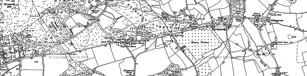 Old map of Whitepatch Hill in 1895