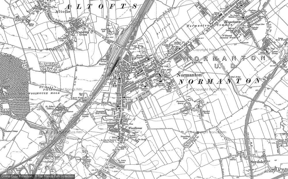 Old Map of Normanton, 1890 - 1892 in 1890