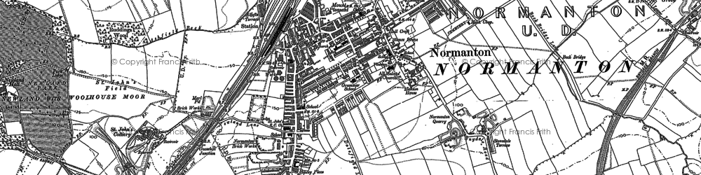 Old map of Woodhouse in 1890