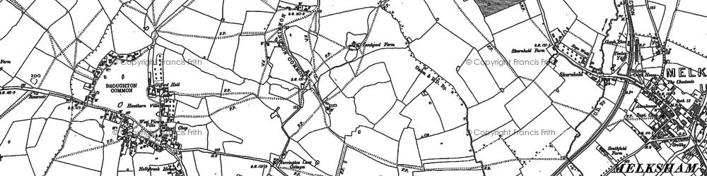 Old map of Berryfield in 1899