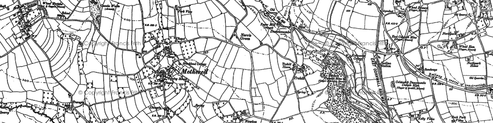 Old map of Norris Green in 1905