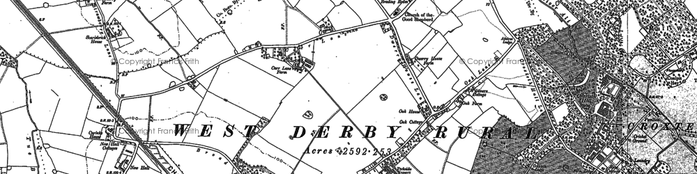 Old map of Norris Green in 1906
