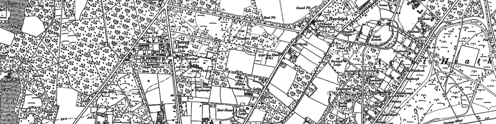 Old map of Winkfield Manor in 1898