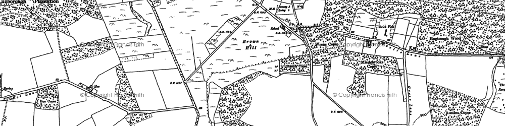 Old map of Whitenap in 1895