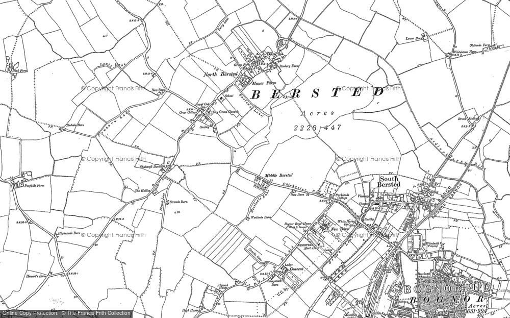 Old Map of Historic Map covering Aldingbourne Rife in 1847