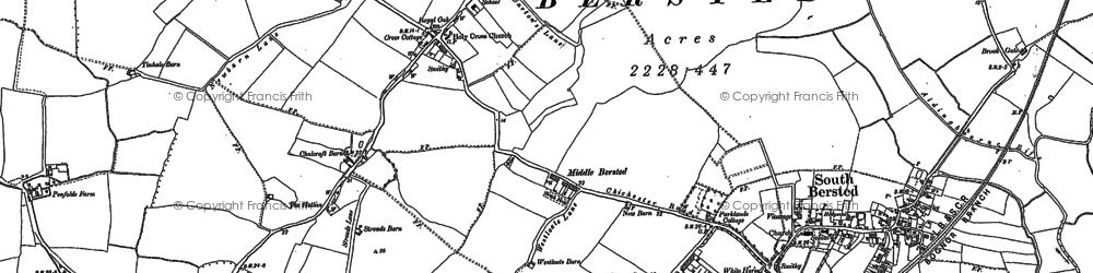 Old map of Aldingbourne Rife in 1847