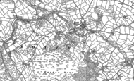 Old Map of North Bovey, 1884 - 1885