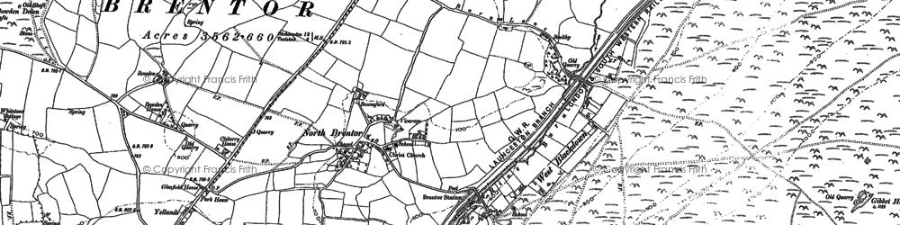Old map of Westcott in 1883