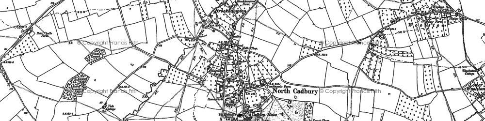 Old map of Woolston in 1885