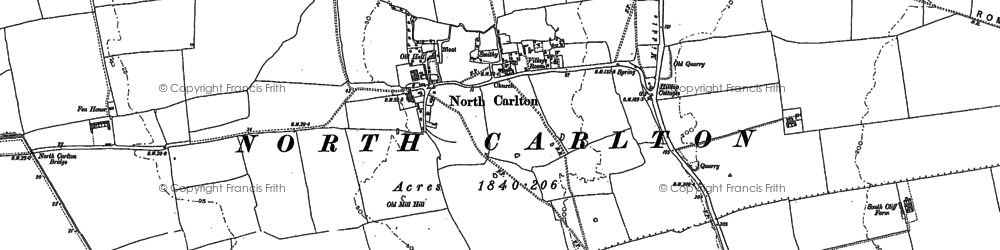 Old map of Till Bridge Lane Ho in 1885