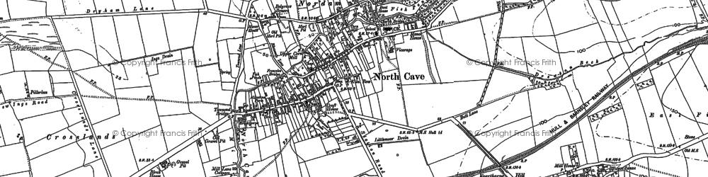 Old map of North Cave in 1888
