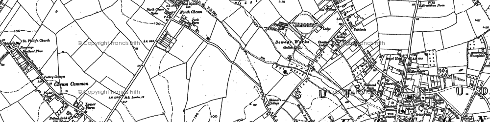 Old map of North Cheam in 1894