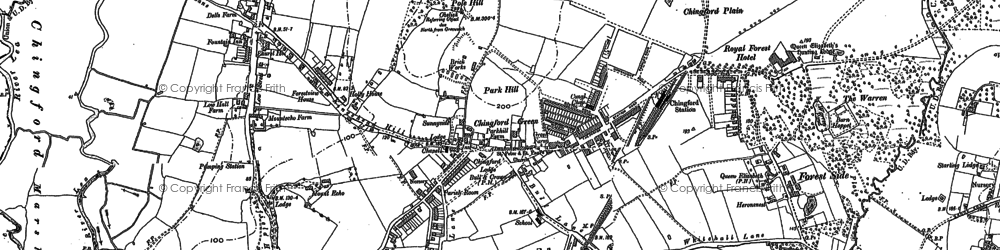 Old map of Chingford Green in 1894