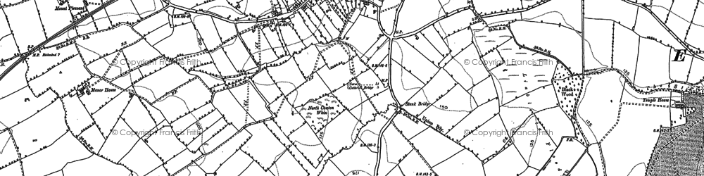 Old map of Atley Hill in 1891