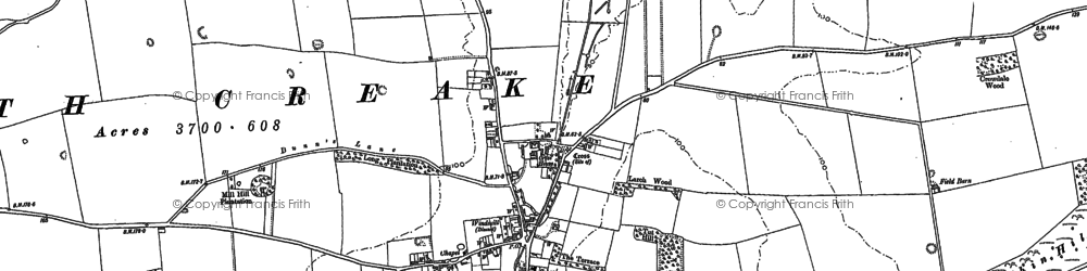 Old map of North Creake in 1885