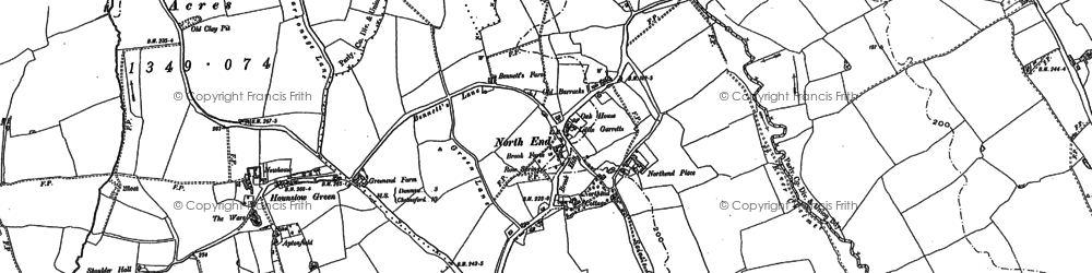 Old map of Absol Park in 1895
