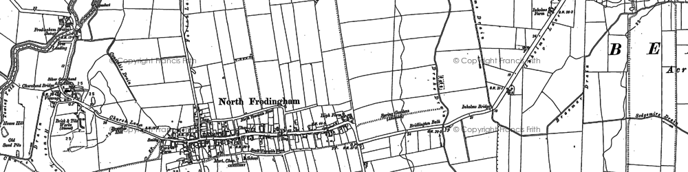 Old map of North Frodingham in 1890