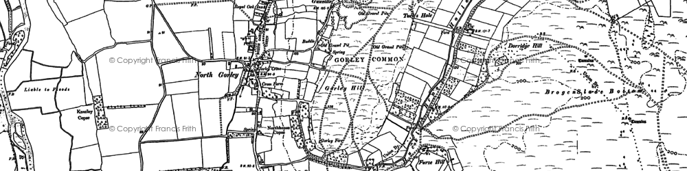 Old map of North Gorley in 1907