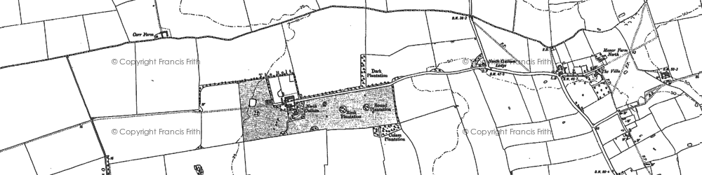 Old map of Winghale Priory in 1886